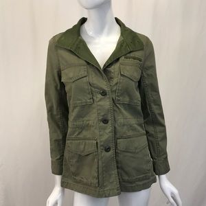 Madewell Green Utility Button Up Jacket XS